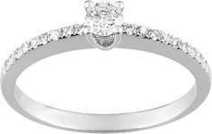 2.solitaire diamant accompagné or 18K