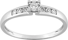 3. solitaire accompagné or diamant 18K