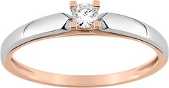 6a.solitaire diamant or 18K rouge rose blanc gris